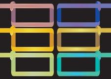 在黑Ba的五颜六色的丝带框架传染媒介设计元素 图库摄影