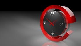 在3D例证的时钟 皇族释放例证