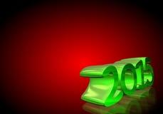 在3D的第2015年在红色背景 免版税库存图片