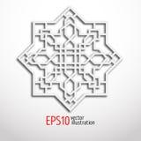在3d的蔓藤花纹设计 东部模式 荐骨的几何 库存例证