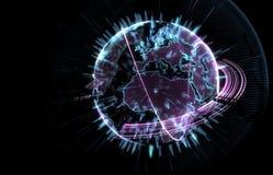 在3D的行星地球 免版税库存照片