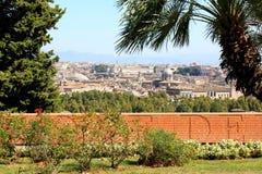 在Janiculum小山的纪念墙壁在罗马,意大利 库存图片