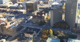 在4K的哥伦布俄亥俄鸟瞰图 股票录像