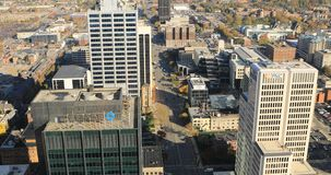 在4K的哥伦布俄亥俄鸟瞰图 影视素材