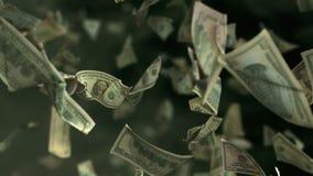 在4K Loopable的落的美元钞票 影视素材