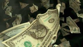 在4K Loopable的落的美元钞票 股票视频