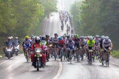 在100 km的自行车种族 免版税库存图片