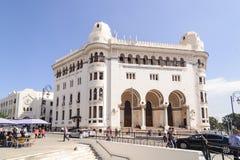 在1910年La重创的Poste阿尔及尔是在阿尔及尔修建的新摩尔人样式Arabisance大厦  免版税库存照片