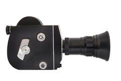 在16mm影片的专业电影摄影机,隔绝在白色背景 库存图片