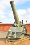在1915年305mm短程高射炮样品奥布霍夫工厂 免版税库存照片