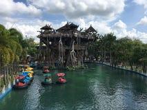 在戴Nam游乐园浇灌吸引力在胡志明市, 库存照片