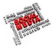 在3D的社会媒体 库存图片
