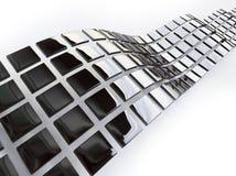 在3d的金属多维数据集 向量例证