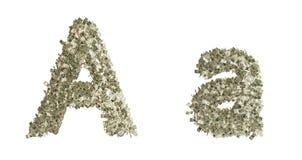 在A上写字 免版税库存图片