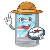 在a动画片形状的探险家冰箱 皇族释放例证