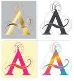 在A字母表字体上写字导航设计 库存图片