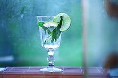 在a的自创柠檬水柠檬薄荷冰 库存图片