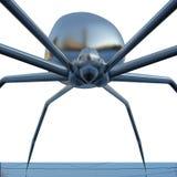 在a的镀铬物蜘蛛在白色背景。 特写镜头 库存图片