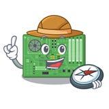 在a计算机动画片的探险家主板 向量例证