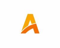 在A象字母表标志上写字 免版税库存照片
