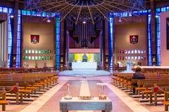 在A里面的利物浦大城市大教堂 免版税库存图片