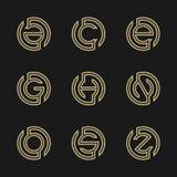 在A, C, E, G, H, N, O, S,抽象商标设计Z例证上写字  传染媒介例证EPS 8 eps 10 库存照片