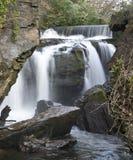 在Aberdulais锡矿的瀑布 免版税图库摄影