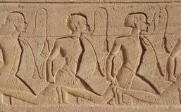 在Abu Simbel寺庙的替补 图库摄影