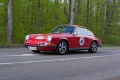 1971年在ADAC符腾堡历史的Rallye的保时捷911T 2013年 免版税库存图片