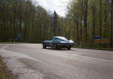 1964年在ADAC符腾堡历史的Rallye的薛佛列轻武装快舰C2 2013年 免版税库存照片