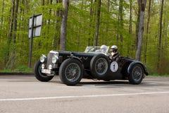 1938年在ADAC符腾堡历史的Rallye的阿尔维斯速度25 2013年 免版税库存照片
