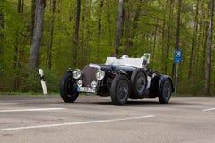 1938年在ADAC符腾堡历史的Rallye的阿尔维斯速度25 2013年 库存照片