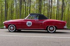1959年在ADAC符腾堡历史的Rallye的Borgward伊莎贝拉小轿车Cabrio 2013年 免版税图库摄影