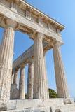 在Aegina的希腊语寺庙,希腊 库存照片