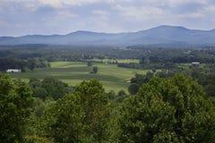 在Afton山, VA的云彩 免版税库存图片