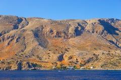 在Agia Roumeli,希腊附近的克利特 免版税库存照片
