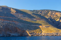 在Agia Roumeli,希腊附近的克利特 免版税库存图片