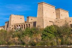 在agilkia海岛的寺庙 免版税库存照片