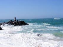 在Agulhas的大浪 库存图片