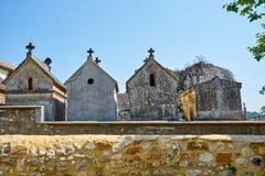 在Aigueze法国的古老埋葬洞 库存图片