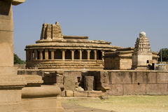 在Aihole的Durga寺庙 免版税库存照片