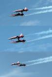 在Air14帕耶讷,瑞士的空中特技 库存照片