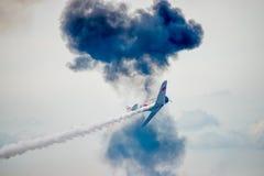 在Airshow的日本人零的战争飞机 库存图片