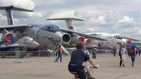 在Airshow MAKS-2017的伊尔-76航空器 Zhukovsky,俄罗斯