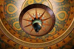 在Al Hirschfeld剧院的天花板 库存图片