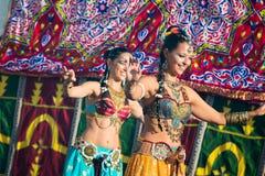 在Al mossassa的庆祝的Bellydancer 免版税图库摄影
