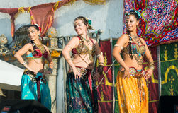 在Al mossassa的庆祝的Bellydancer 库存照片