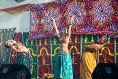 在Al mossassa的庆祝的Bellydancer 免版税库存图片
