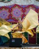 在Al mossassa的庆祝的Bellydancers 库存图片