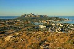 在Alcudia的看法 库存照片